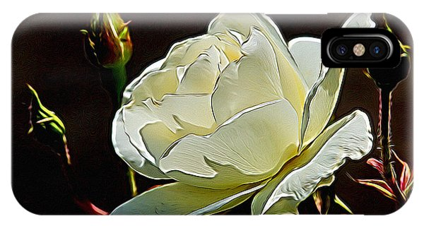 Shrub iPhone Case - A Rose Digital Art by Ernie Echols