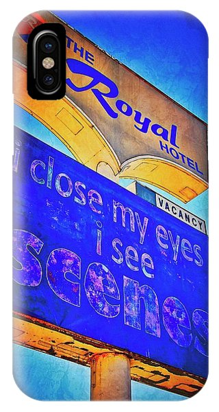 A Royal Scene, Route 66 Sign IPhone Case