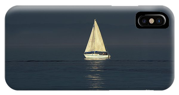 A Sailboat Capturing Light IPhone Case