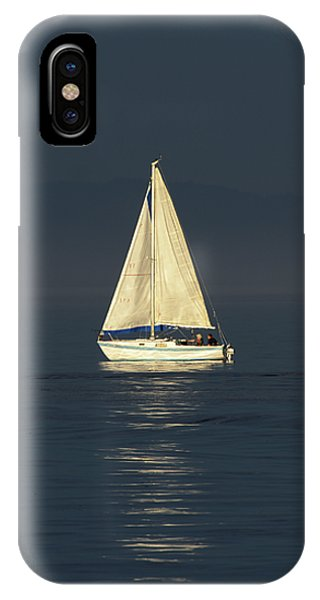 A Sailboat Capturing Light IPhone Case