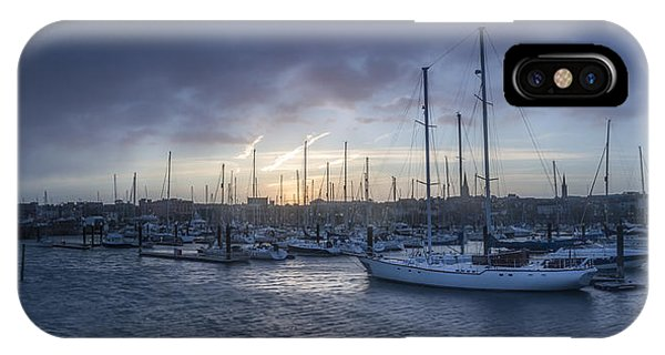 A Sailors Warning At Bangor Marina IPhone Case