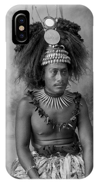 A Samoan High Chief IPhone Case