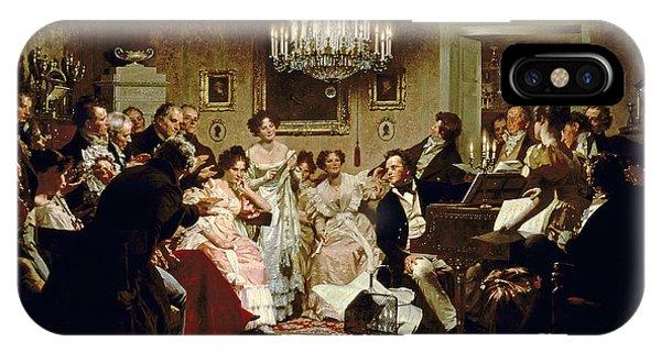People iPhone Case - A Schubert Evening In A Vienna Salon by Julius Schmid
