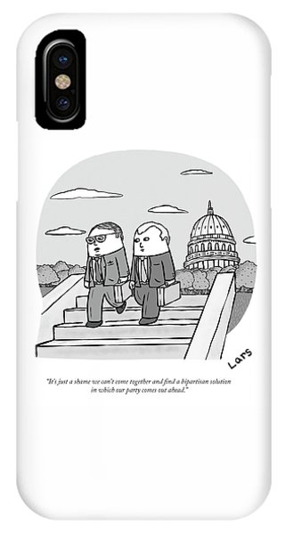 Capitol Building iPhone Case - A Bipartisan Solution In Which Our Party Comes Out Ahead by Lars Kenseth