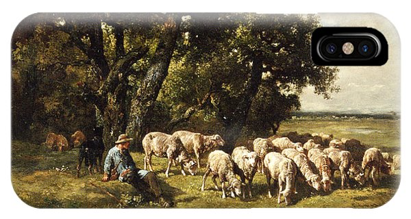A Shepherd And His Flock IPhone Case