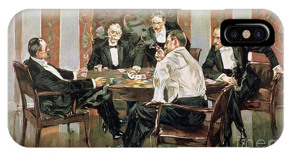 1895 iPhone Case - A Showdown by Albert Beck Wenzell