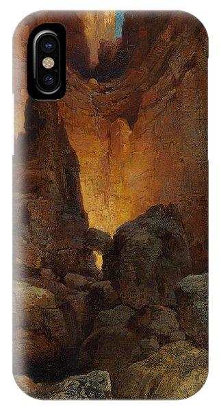 Barren iPhone Case - A Side Canyon, Grand Canyon Of Arizona by Thomas Moran