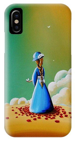 Blue Dress iPhone Case - A Simple Melody by Cindy Thornton