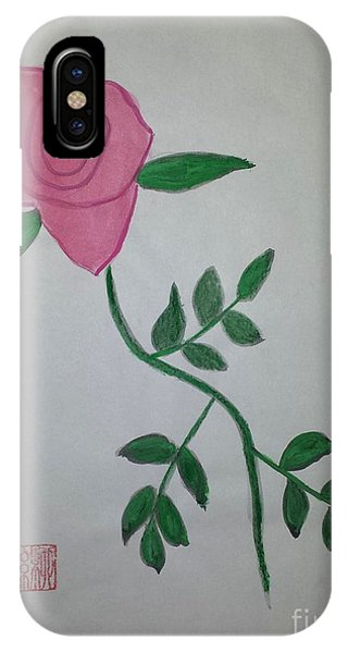 A Single Red Rose IPhone Case