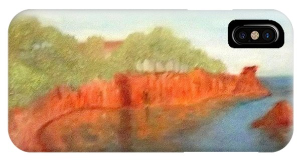 A Small Inlet Bay With Red Orange Rocks IPhone Case