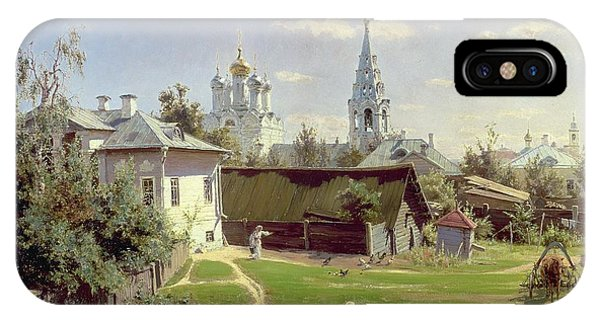 Moscow iPhone Case - A Small Yard In Moscow by Vasilij Dmitrievich Polenov