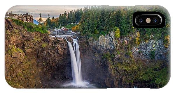 A Snoqualmie Falls  Autumn IPhone Case