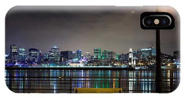 Quebec City iPhone Case - A Snowy Night In Montreal  by Jane Rix