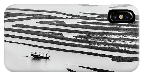 A Solitary Boatman. IPhone Case
