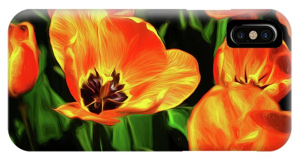 Tulip iPhone X / XS Case - A Splash Of Color by Tom Mc Nemar