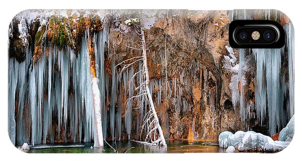 A Spring That Knows No Summer. - Hanging Lake Print IPhone Case