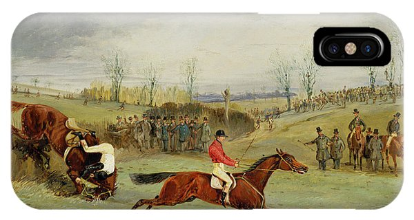 A Steeplechase - Another Hedge IPhone Case