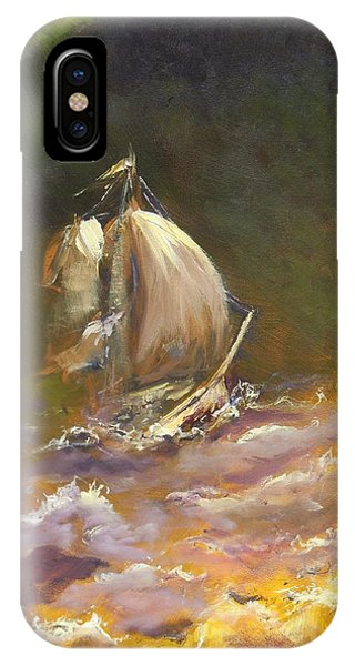 A Stormy Night At Sea IPhone Case