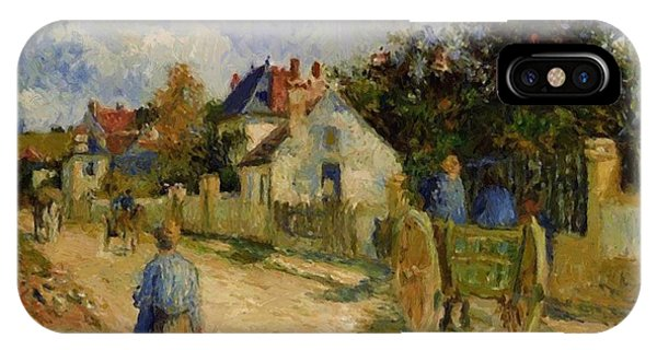 A Street In Pontoise 1879 IPhone Case