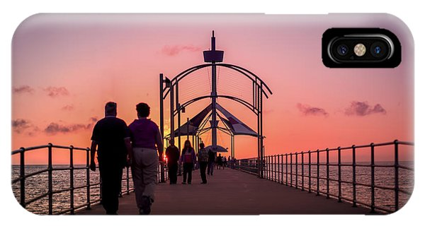 A Stroll Along Sunset Pier IPhone Case