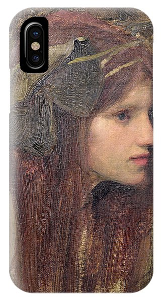 Portraits iPhone X Case - A Study For A Naiad by John William Waterhouse