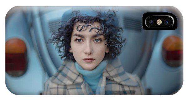Blue iPhone Case - A Study In Blue by Anka Zhuravleva