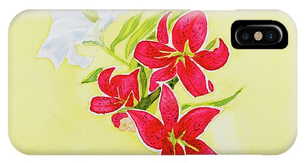 A Study Of Lilies IPhone Case