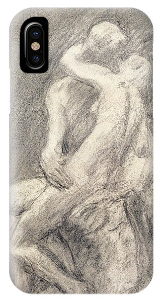 A Study Of Rodin's Kiss In His Studio IPhone Case