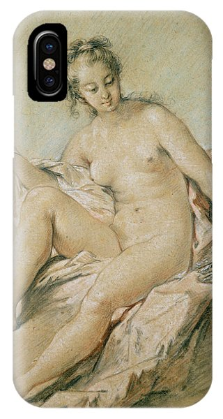 Pastel Pencil iPhone Case - A Study Of Venus by Francois Boucher