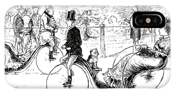 A Suggestion For The Park  Vintage Illustration From Punch Magazine 1878 IPhone Case