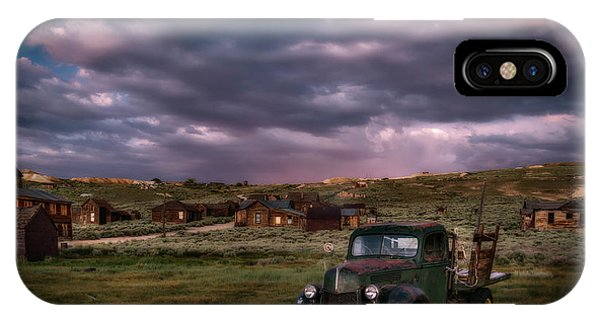 Bodie Ghost Town iPhone Case - A Summer Evening In Bodie by Cat Connor