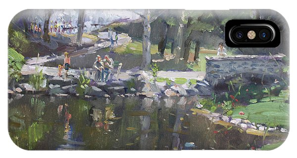 Sunny iPhone Case - A Sunny Sunday In Williamsville Park by Ylli Haruni