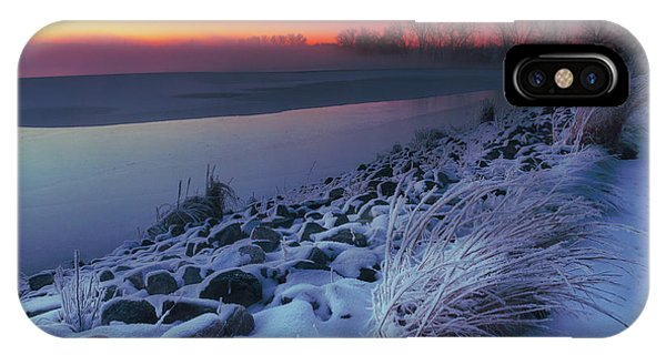 IPhone Case featuring the photograph A Sunrise Cold by John De Bord