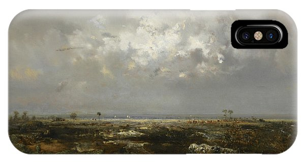 French Painter iPhone Case - A Swamp In The Landes by Theodore Rousseau