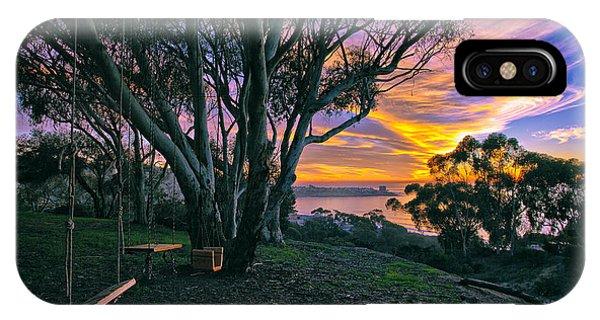 A Swinging Sunset From The Secret Swings Of La Jolla IPhone Case