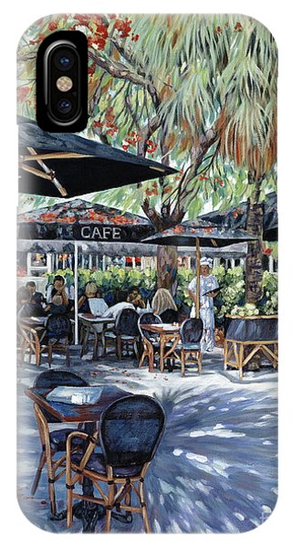 Table For Two iPhone Case - A Table For Two by Danielle  Perry