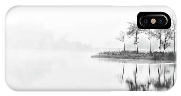 Loch Ard iPhone Case - A Time For Reflection by Janet Burdon