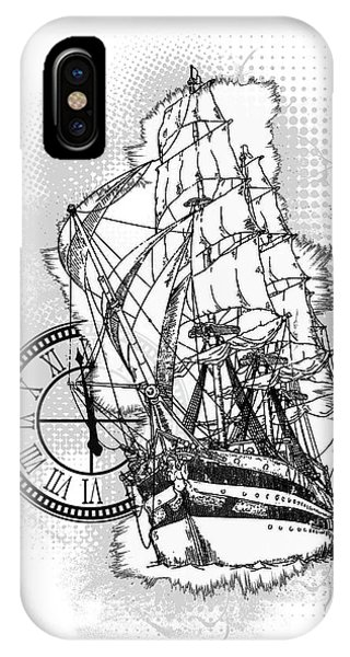 A Time To Sail Bw 2 IPhone Case