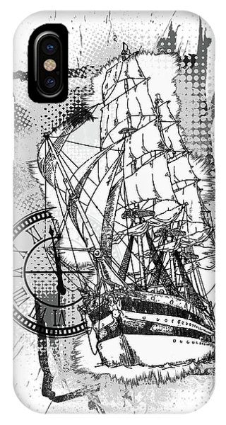 A Time To Sail Bw IPhone Case