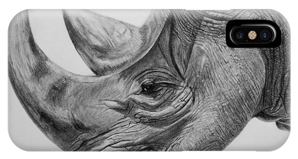 Rhinoceros - A Peaceful Giant IPhone Case