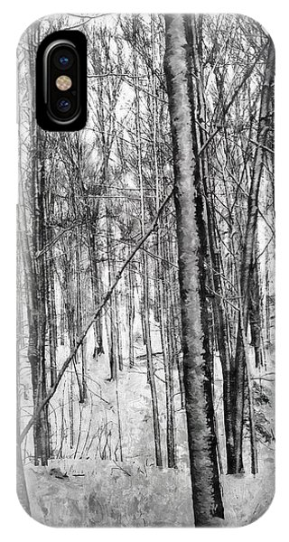 A Tree's View In Winter IPhone Case