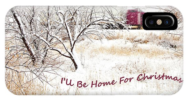 Trucking iPhone Case - A Trucker's Christmas Card by Theresa Tahara
