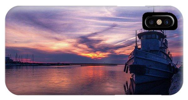 A Tugboat Sunset IPhone Case