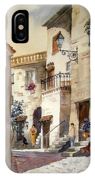 A Tuscan Street Scene IPhone Case
