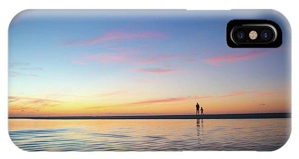A Twilight Beach Walk IPhone Case