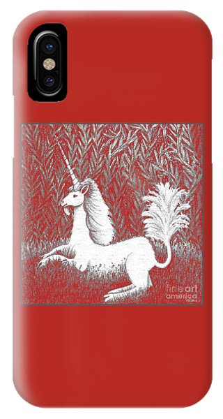 A Unicorn In Moonlight Tapestry IPhone Case