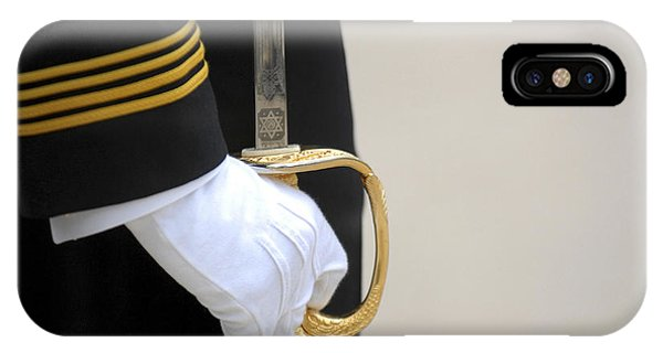 Ceremony iPhone Case - A U.s. Naval Academy Midshipman Stands by Stocktrek Images