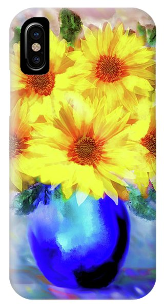 A Vase Of Sunflowers IPhone Case
