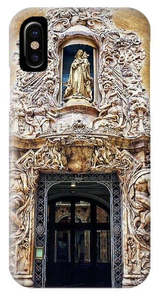 A Very Ornate Doorway In Valencia Spain  IPhone Case