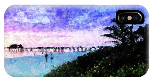 A View At Naples Pier IPhone Case